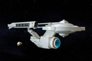 USS Enterprise A with shuttlecraft
